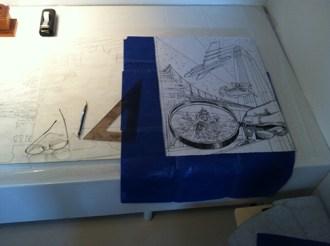Flying High by Dennis Larkins (in progress)