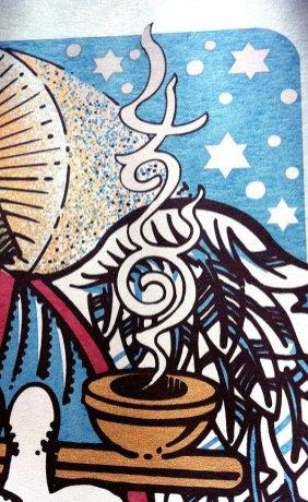 4/20/14 silkscreen poster M678 by Gary Houston (detail)