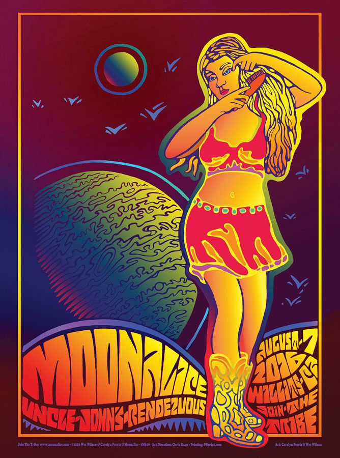 M929 › 8/7/16 Uncle John's Rendezvous, Willits, CA poster by Wes Wilson & Carolyn Ferris
