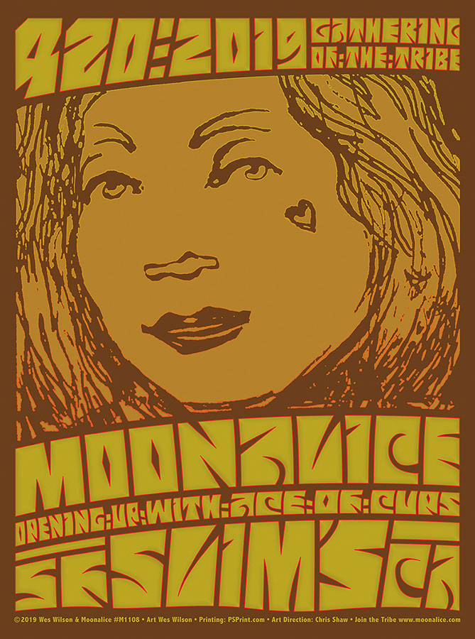 M1108 › 4/20/19 Slim's, San Francisco, CA poster by Wes Wilson