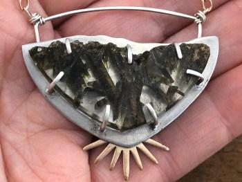 Epidote Quartz Necklace