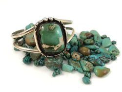 Green Turquoise Cuff Bracelet