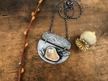 Sleeping Owl Necklace