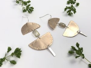 Hammered Crescent Earrings