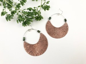 Textured Copper Hoops