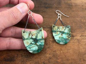 chrysacolla earrings