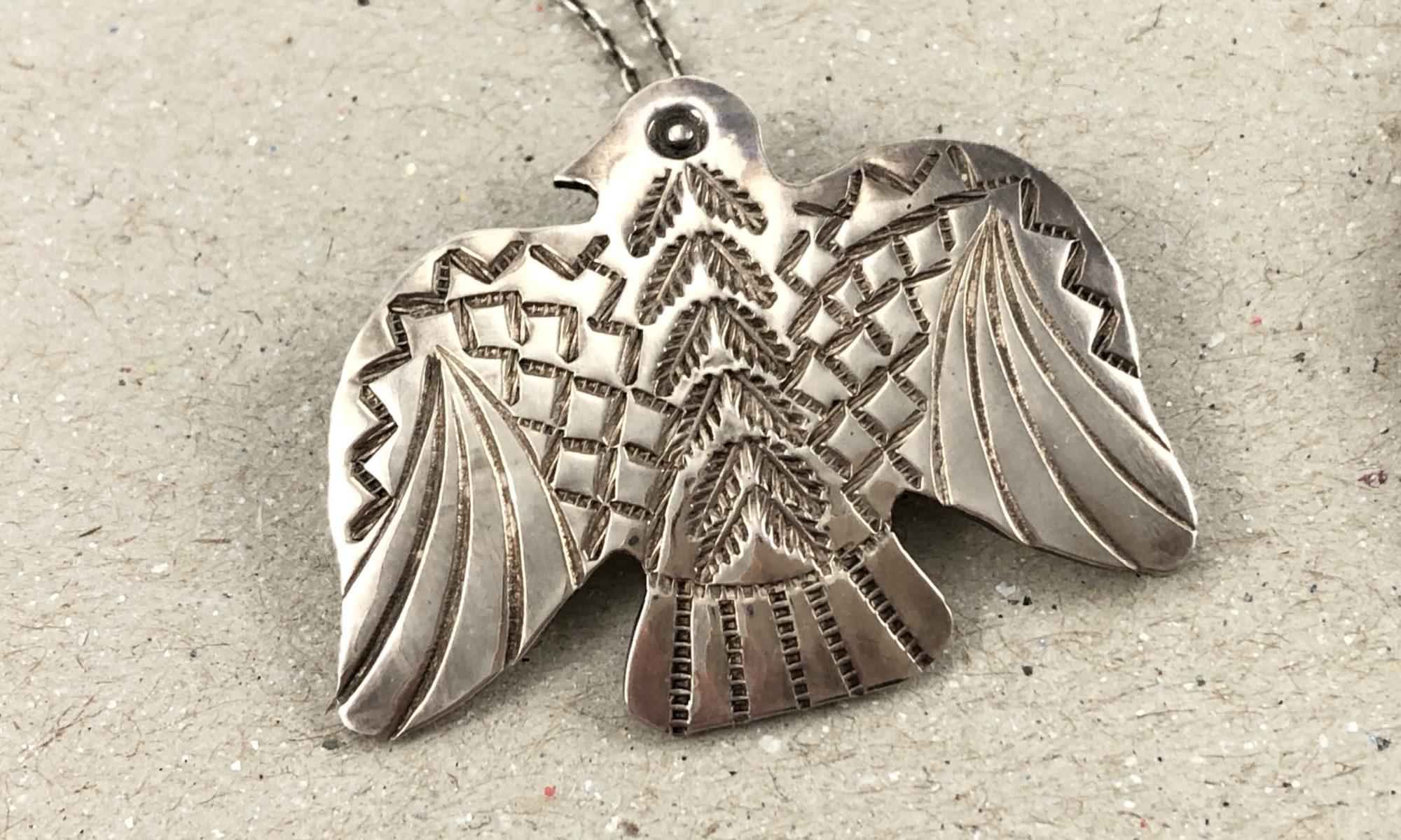 Silver Thunderbird Necklace