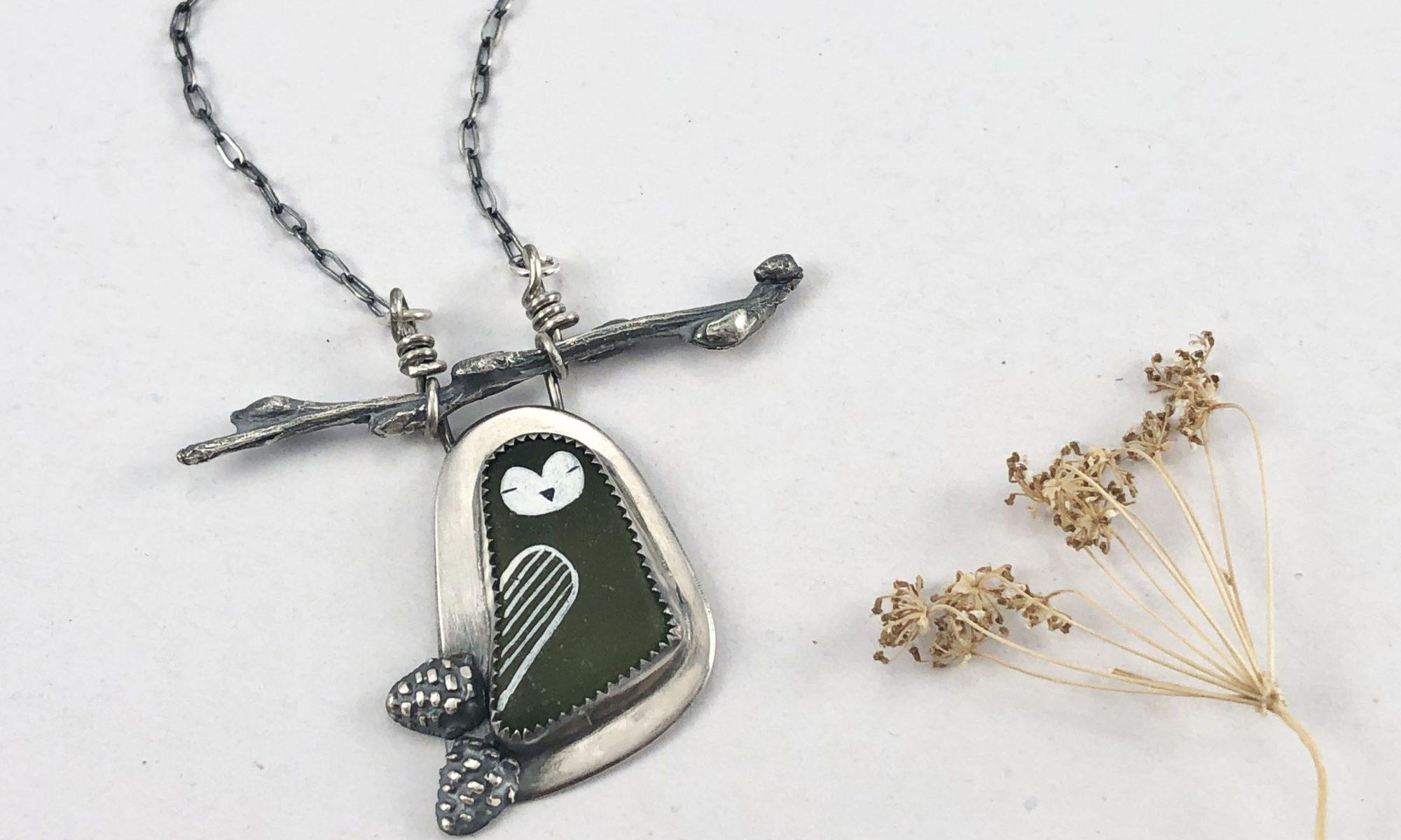 Tiny Owl Necklace