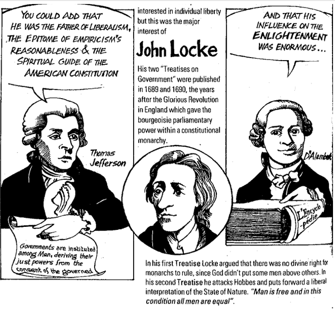Government John Locke Cartoon : The first treatise is a