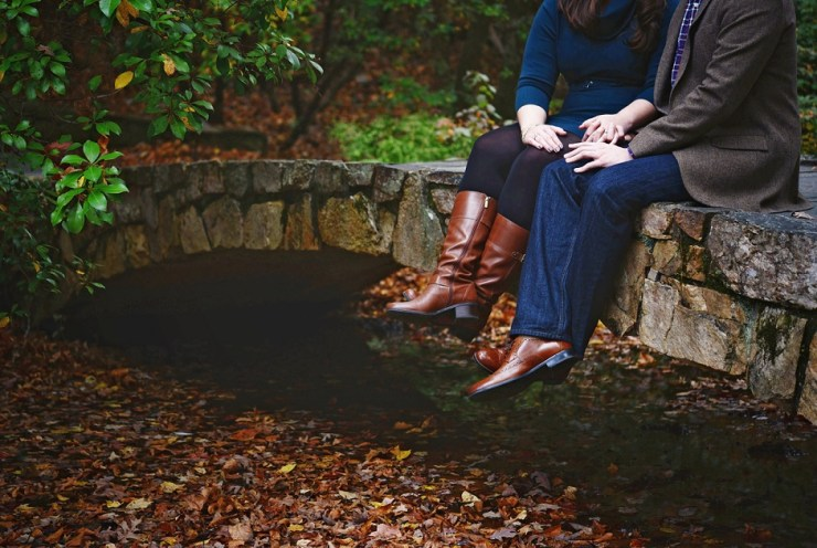 6 Atlanta Georgia gardens fall engagement pictures