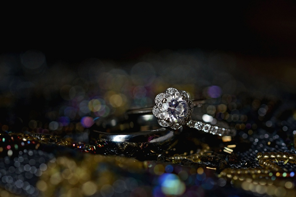 9 vintage flower engagement wedding ring