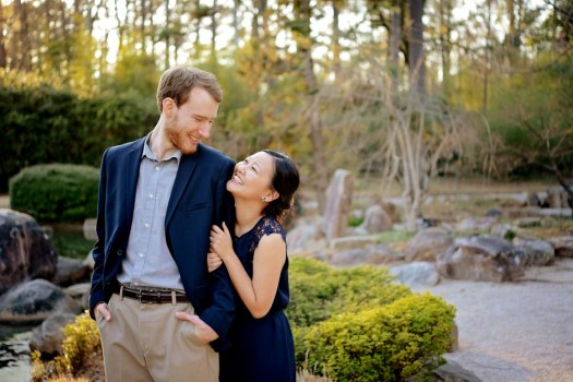 16 Birmingham Botanical gardens engagement pictures