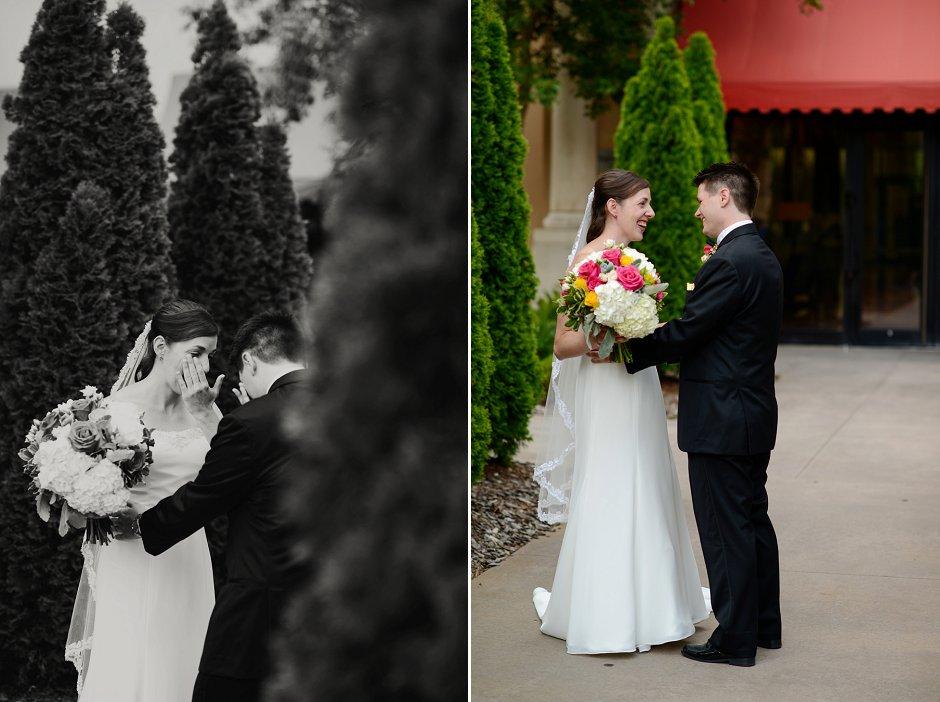 14 Westin Huntsville wedding photographer first look