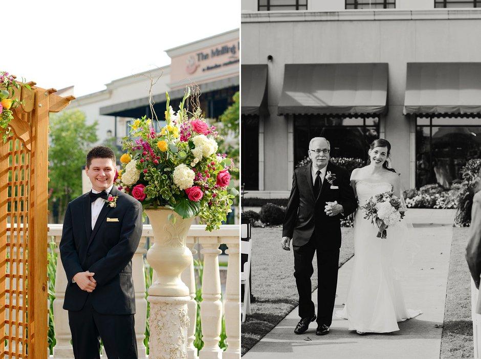28 westin huntsville wedding photographer courtyard ceremony