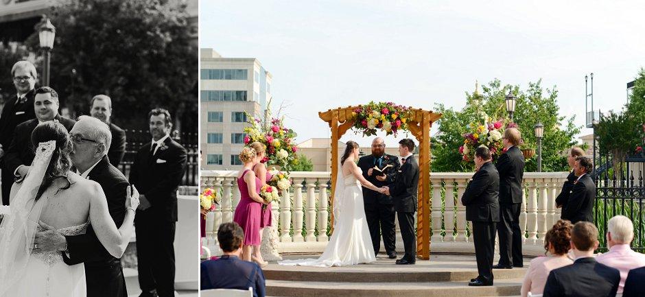 29 westin huntsville wedding photographer courtyard ceremony