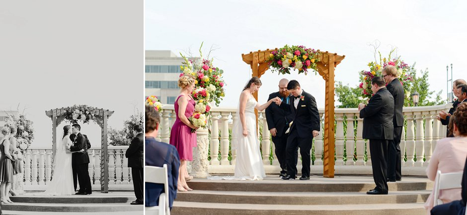 32 westin huntsville wedding photographer courtyard ceremony jewish wedding