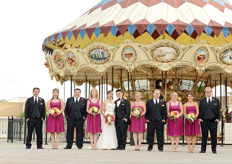 36 westin huntsville wedding photographerbridal party carousel