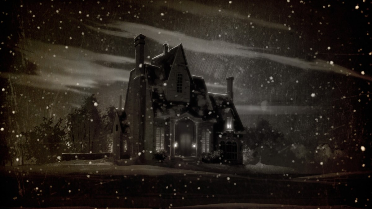 The Narrator's house on a snowy night