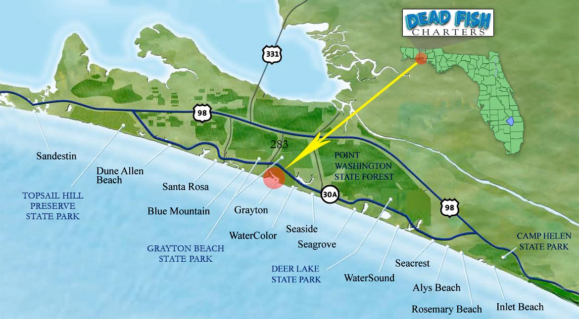 Our Location – Dead Fish Charters on