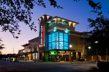 Carmike Cinemas Boulevard 10 exterior at night