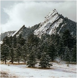BOULDER MTNS SNOW