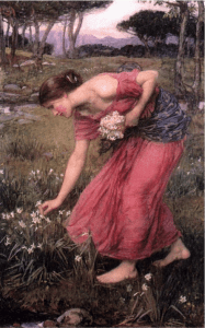 """""""Narcissus"""" painting by J. Waterhouse"""