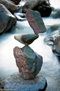 Rock Balancing art by Michael Grab