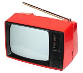 OLD RED TV SET