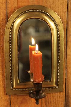 CANDLE SCONCE BY MIRROR
