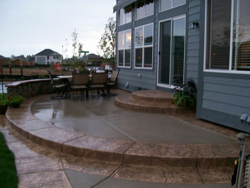 choose concrete stamping or staining