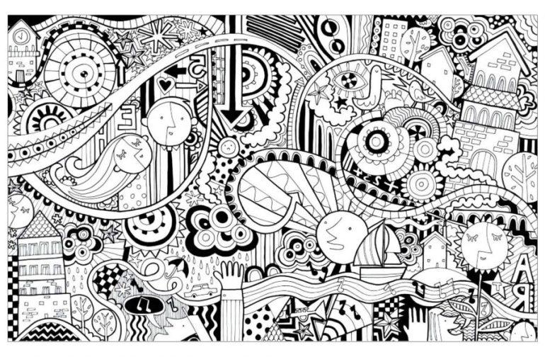 35 Gambar Doodle Art Simple Keren Lucu dan Cara Membuatnya