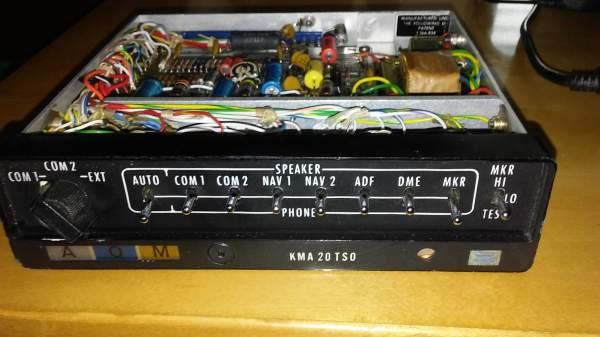 king kma-20 audio panel with3 lmb 100 - avionics parts