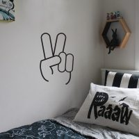 PEACE SIGN Wall Sticker | Kid's Space | Made in Australia