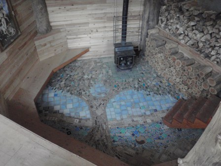 photo of floor mosaic after living room was built
