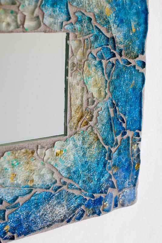 Moonfish artworks Mosaic mirror 2