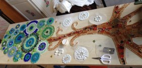 in progress tree mosaic