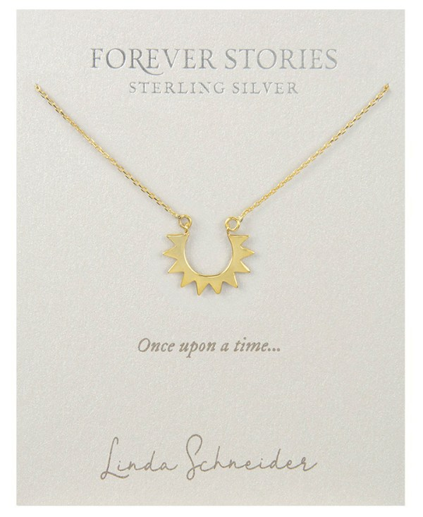 Sun Necklace Gold Plated