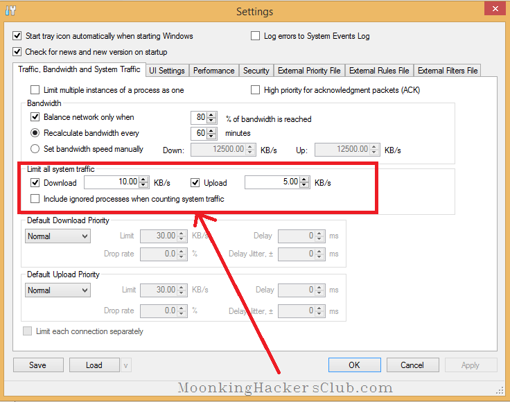 how to limit data usage on windows -netbalancer setting