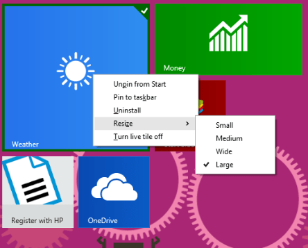 How to Change Start Menu Icons [ Customize ] in Windows 8 Resize live tiles