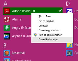 How to Change Start Menu Icons [ Customize ] in Windows 8 open file location