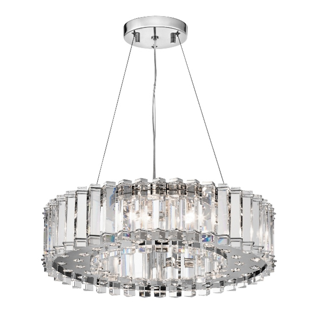 Bathroom Chandelier Lighting Kichler Crystal Skye 8 Light Bathroom Led Chandelier Ip44 Polished Chrome