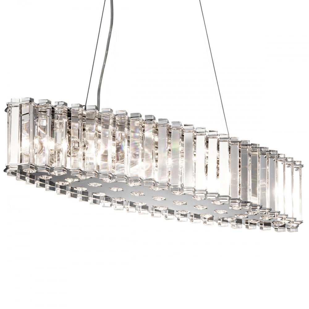 Bathroom Chandelier Lighting Kichler Crystal Skye Island Led Bathroom Chandelier Ip44 Polished Chrome