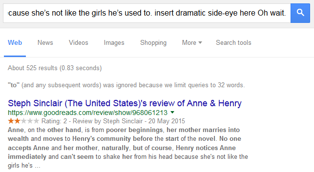 spam comment anne and henry search result