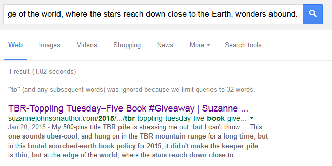 spam comment toppling tbr pile search result