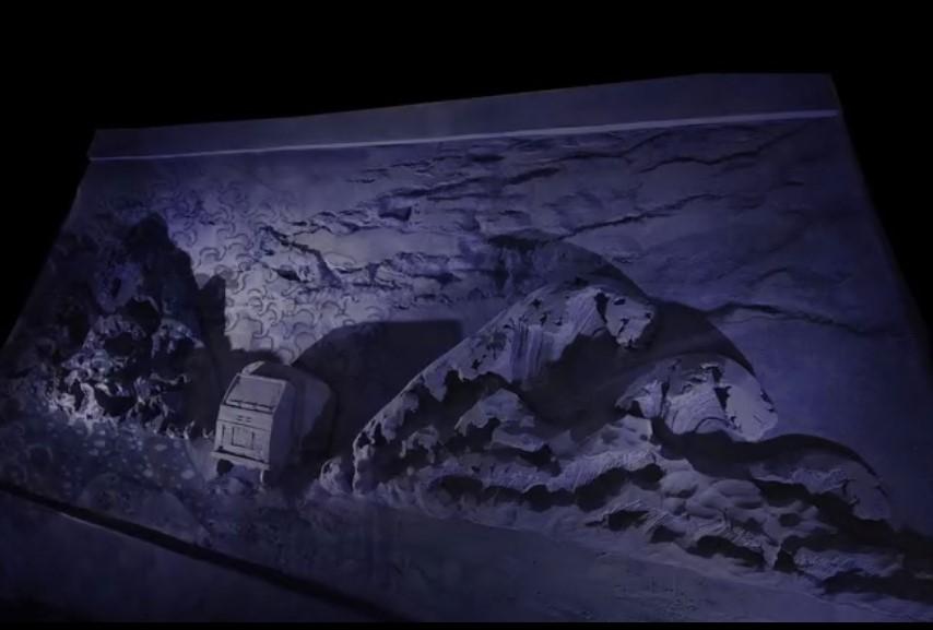 I camion militari al presepe di sabbia di Lignano 2020