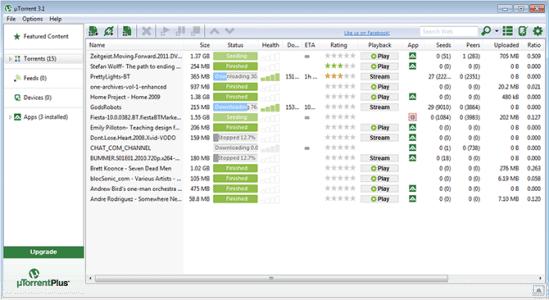 bt下載器中文版 utorrent 3.1.2.26773