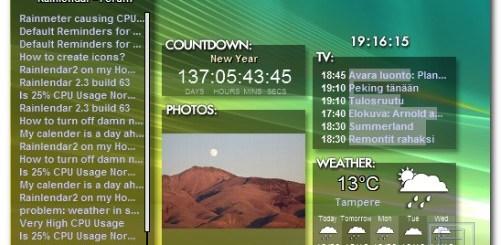 桌面行事曆中文版下載 Rainlendar Lite