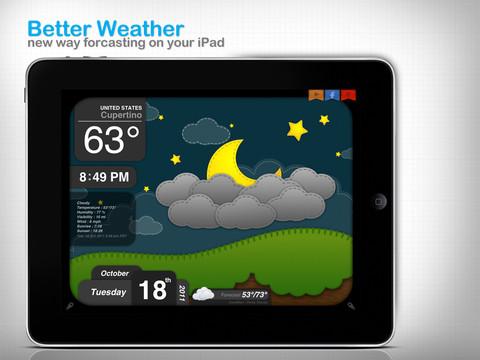 iPad天氣app 超可愛的天氣預報 Better Weather