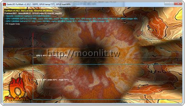 顯示卡燒機軟體 FurMark 1.10.2 - 月光下的嘆息!