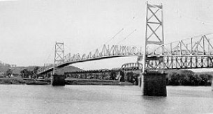 The Silver Bridge when it was first built in 1928. photo credit: United States Department of Transportation employee